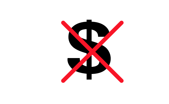 no money sign