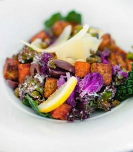 Kale salad: crisp, colourful and beautifully crafted.