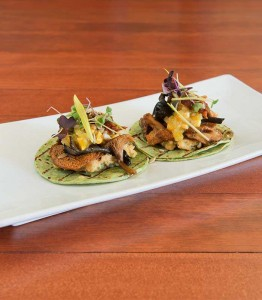 Wild mushrooms top these tasty tacos.