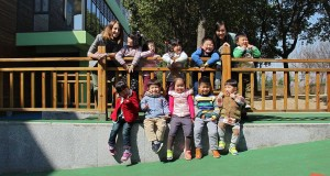 Meriano with her students in China