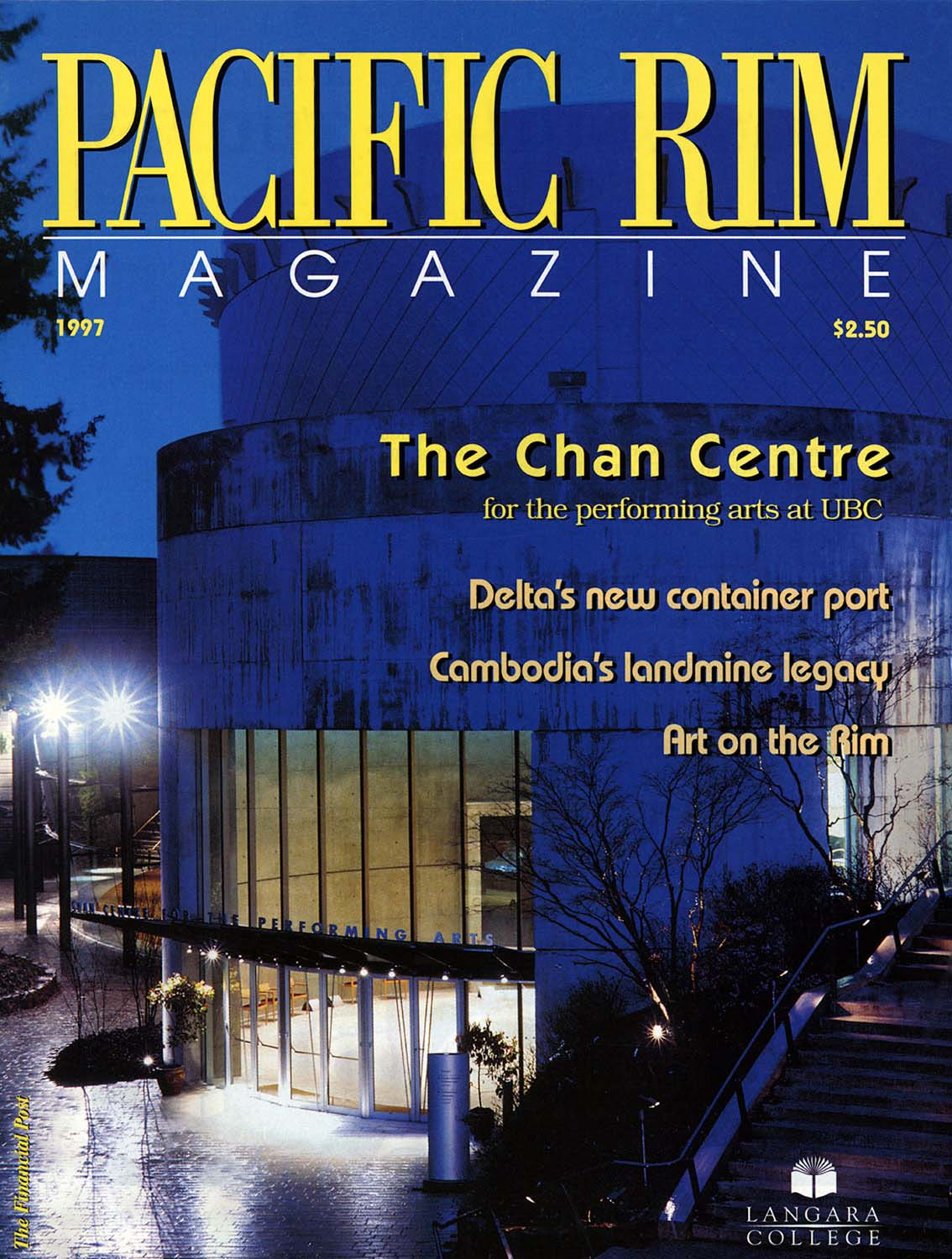 1997 Pacific Rim Cover. Image of Chan Centre for the Performing Arts.