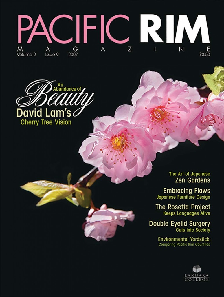 2007 Pacific Rim Cover. Closeup shot of Cherry Blossoms.