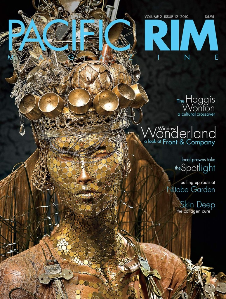 2010 Pacific Rim Cover, Image of woman covered in gold jewelry and adornments.