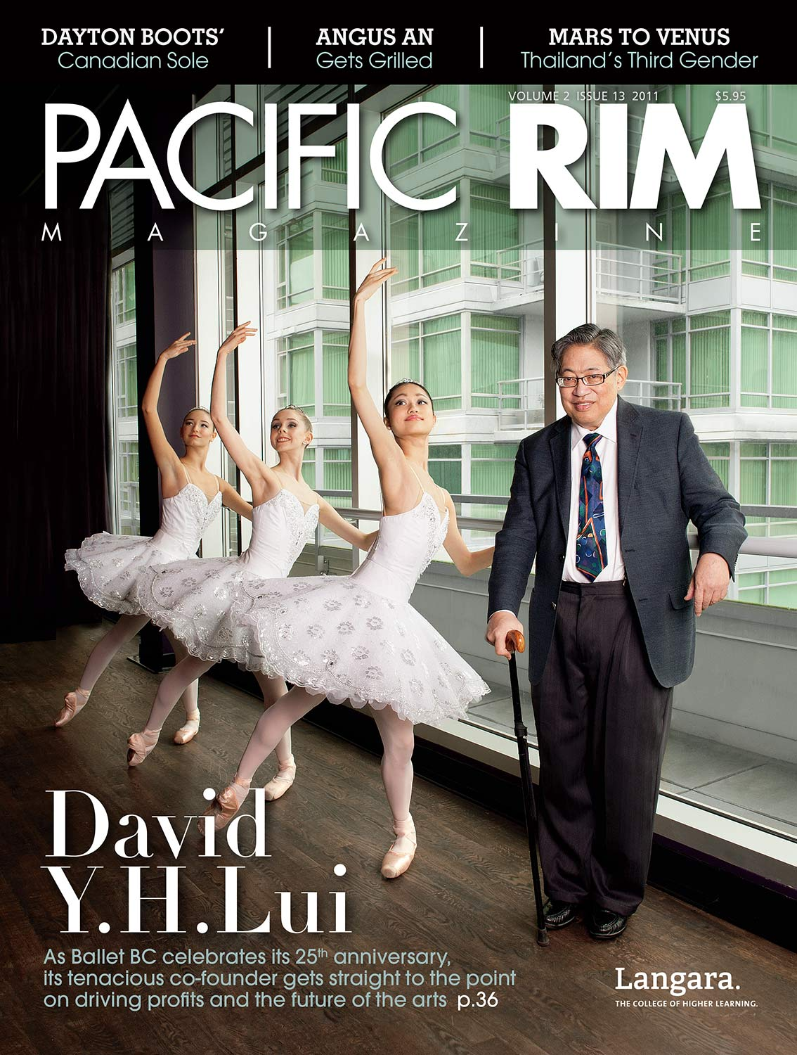 2011 Cover of Pacific Rim. Image of David Y.H. Lui and three ballerinas.