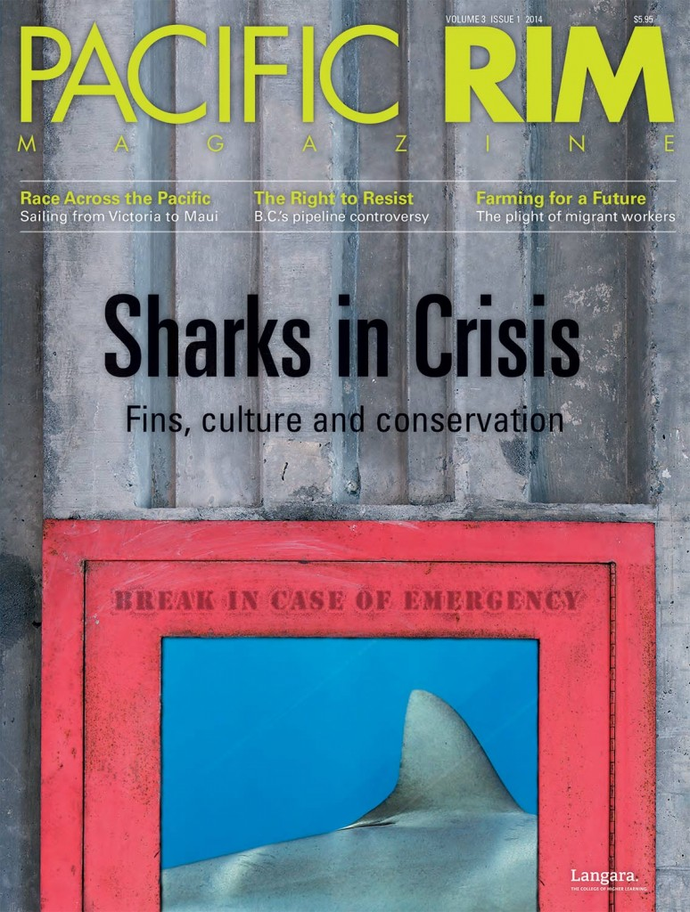 "2014 Pacific Rim Cover, ""Sharks in Crisis"" Cover story."