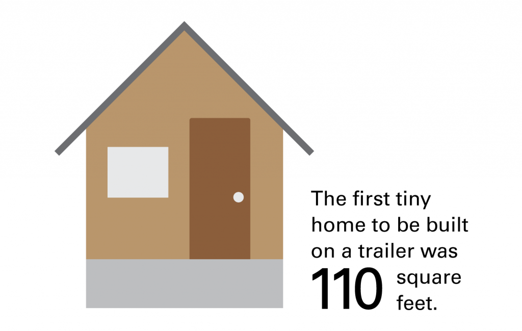 Illustration of tiny home.
