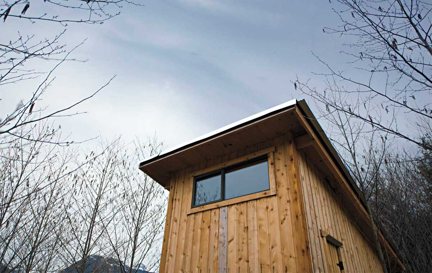 Exterior of Tiny home.