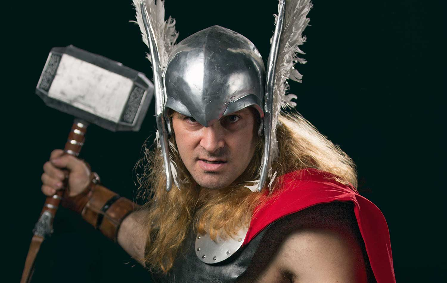 Man in Cosplay Thor Costume