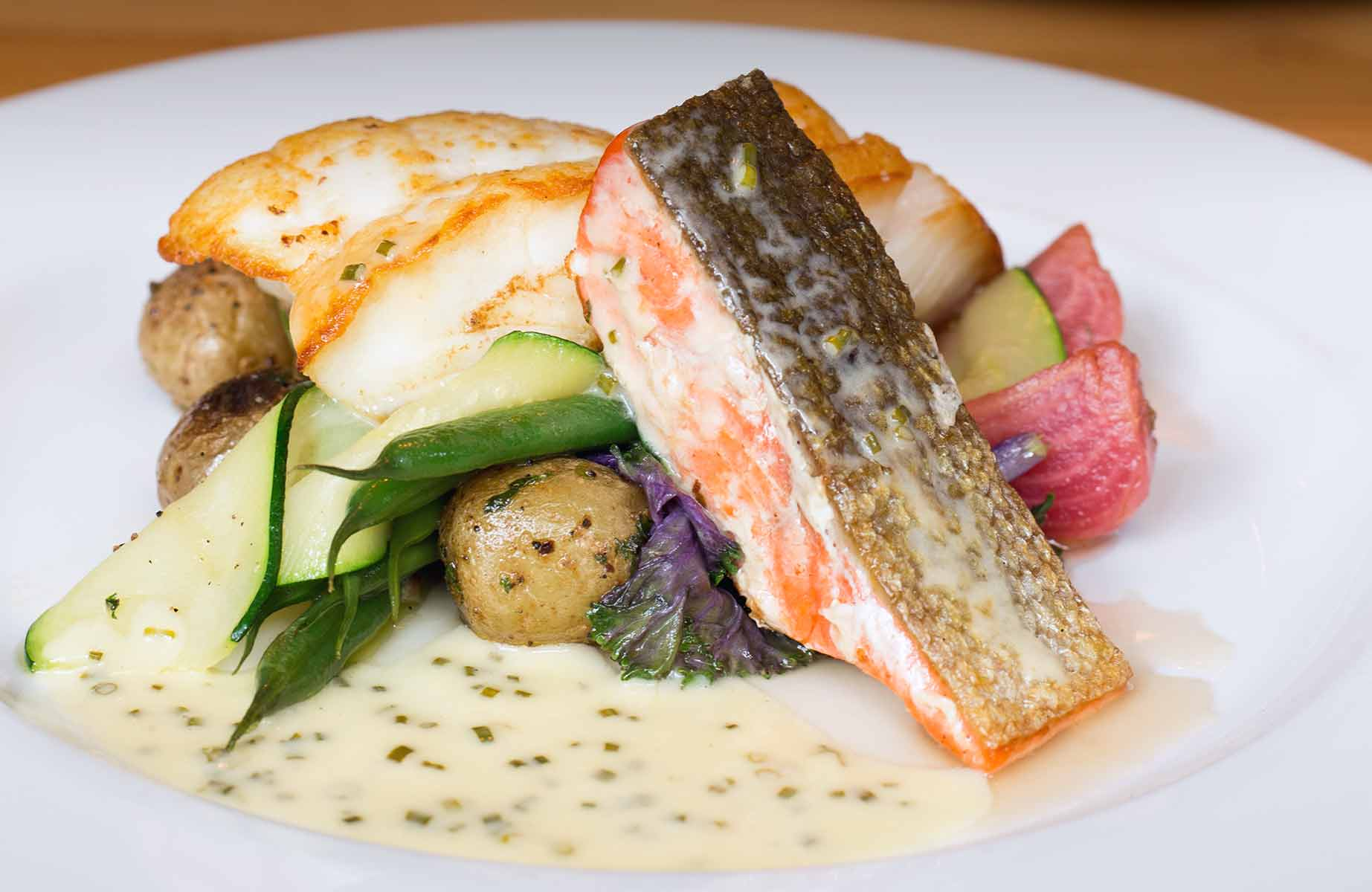 The Arctic char, coho salmon, and sturgeon from WildTale Coastal Grill