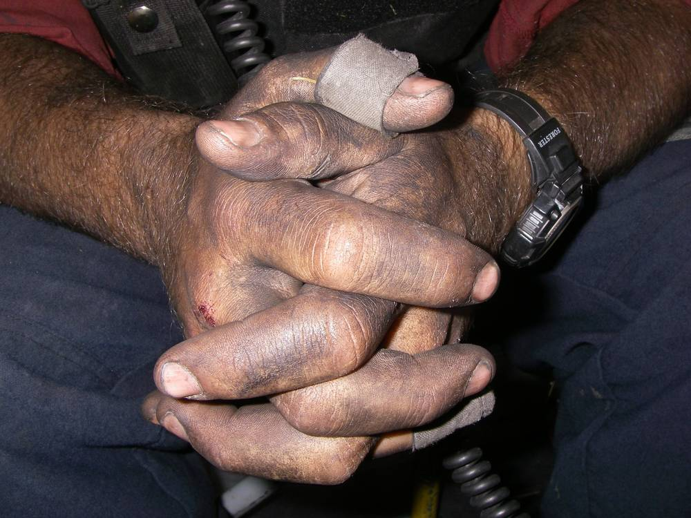 firefighter-hands