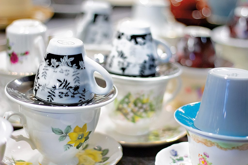 Decorative teacups.