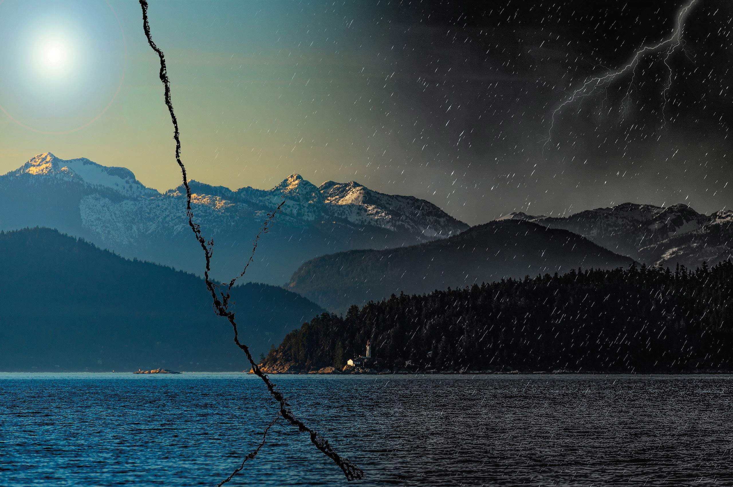 BC coast photo illustration-Earthquake
