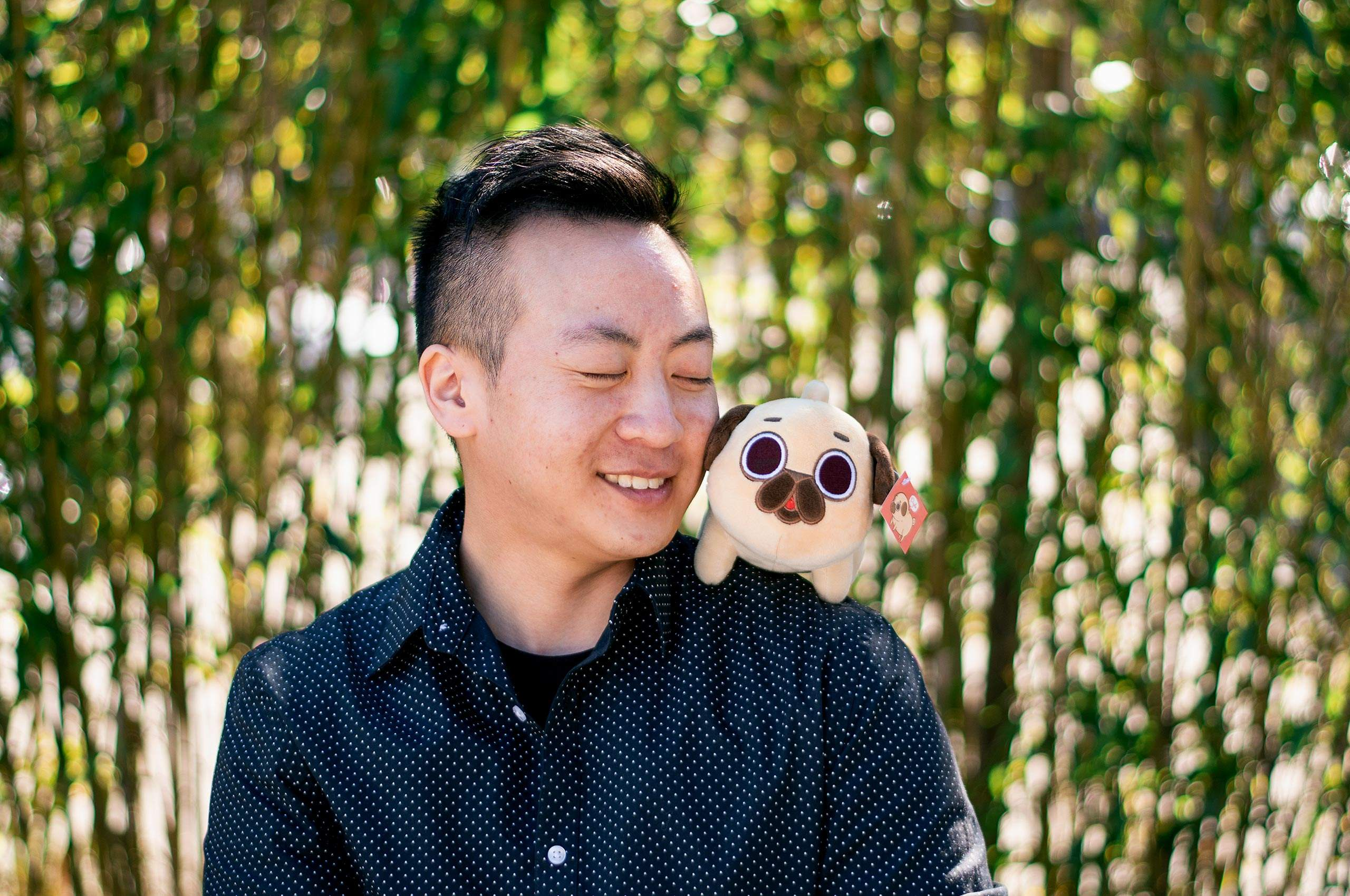 Euge Leung with Puglie Pug